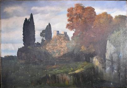 Rudolf Herold - Zřícenina v lesích
