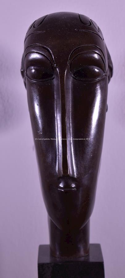 Amedeo Modigliani - Hlava ženy