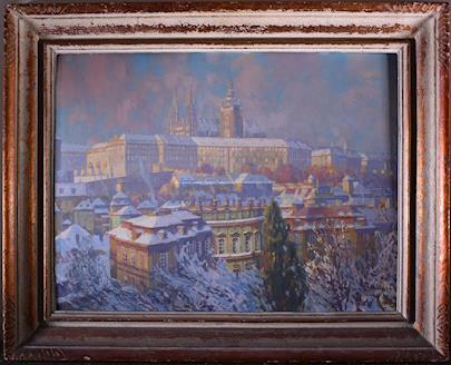 Jan  Spáčil - Pohled na Pražský hrad
