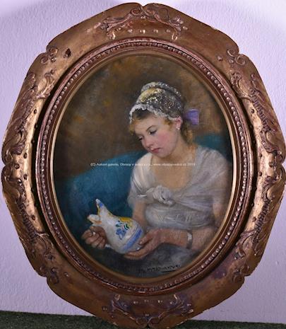 Marie Martínková - Tomašovská - Dívka se džbánkem