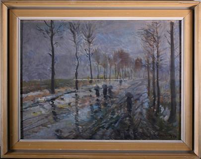 Alois Podloucký - Procházka v dešti