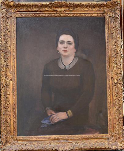 Maxmilián Boháč - Dáma s prstenem (Olga Pavlíková)