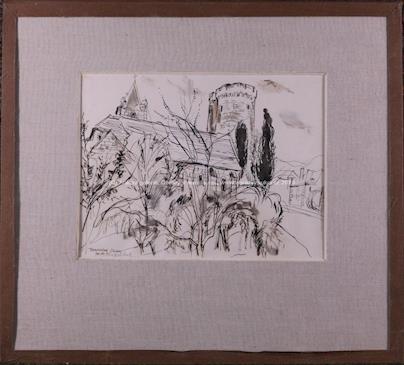 Rastislav Michal - Kresba z Francie (Hrad Treves na Loiře)