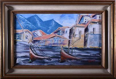 Leopold Musil - Bárky v přístavu