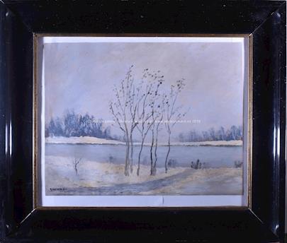 Gustav Macoun - Zima u rybníku