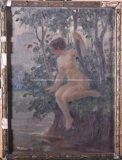 Adolf Petříček - Dívka u vody