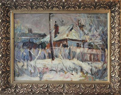 Vincenc Beneš - Chalupy v zimě