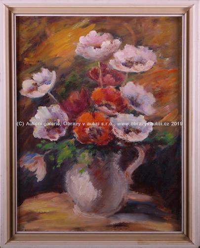 M. Lajmarová - Soubor 2 prací- Jarní květ, Anemonky