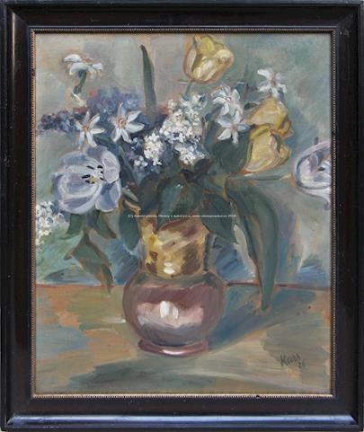 Georges Kars - Zátiší s kyticí