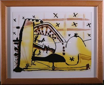 Pablo Picasso - Nu couché - Lying Nude - Le mystére