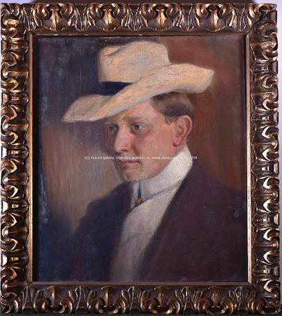 František Xaver Naske - Muž se slaměným kloboukem