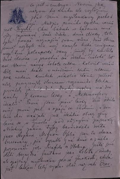Josef Váchal - Dopis Josefa Váchala