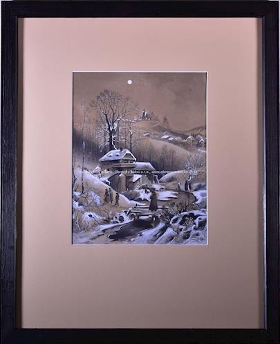 Karel Liebscher - Večer v horské vesničce