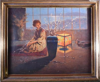 Ender Komáromi - Kacs - Žena sedící u vázy