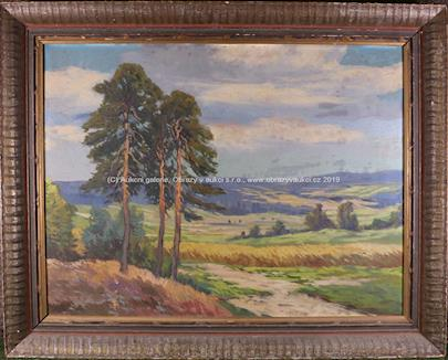 Josef Bíno - Borovice v krajině
