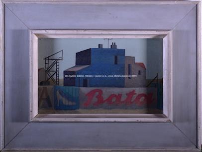 Vlastimil Beneš - Ohrada s reklamou Baťa
