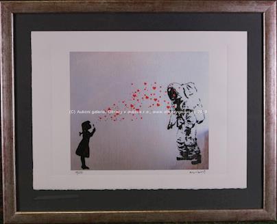 Banksy - Girl blowing bubbles