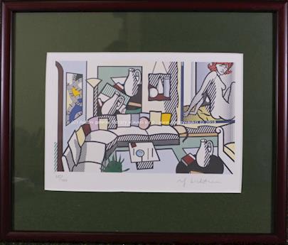 Roy Lichtenstein - Akt v interiéru