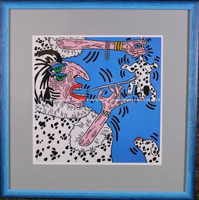 Keith Haring - Cruella Deville 1984