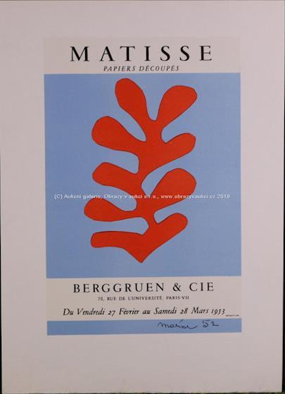 Henri Matisse - Papier découpés - Berggruen & Cie, 1953
