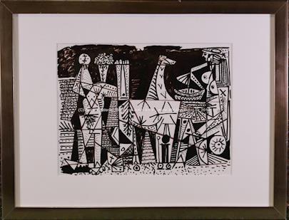 Pablo Picasso - Scéne de cirque