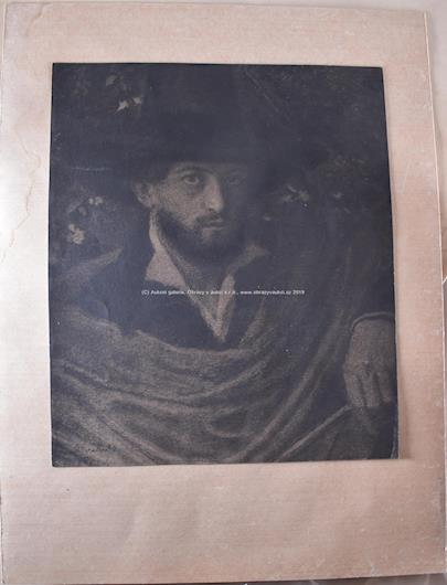 Max Švabinský - Portrét muže v klobouku
