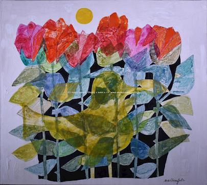 Dominik Wallenfels - Ptáček v květinách