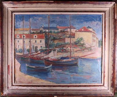 Ante Trstenjak - Plachetnice v přístavu