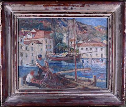 Ante Trstenjak - Rybáři v přístavu.