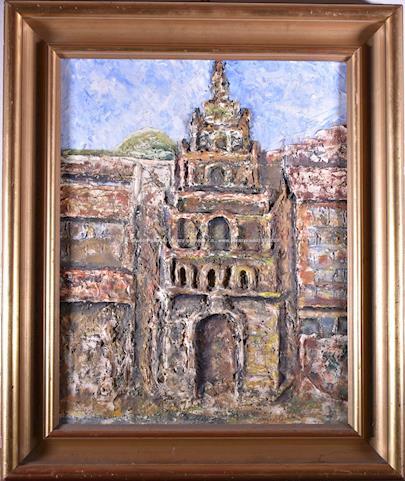 vzadu přípis M. Bühler - Katedrála