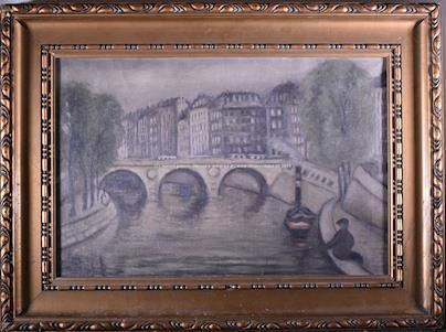 signatura nečitelná - Pont St. Michel