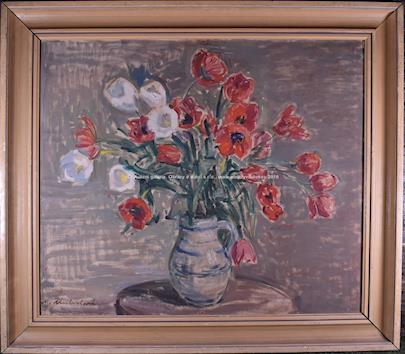 Maryša Neubertová - Červenobílé tulipány