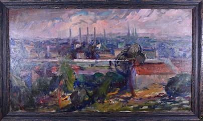 Josef Šlár - Pohled na Holešovice