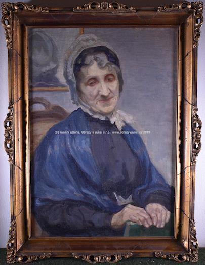 Nesignováno - Portrét ženy v čepci
