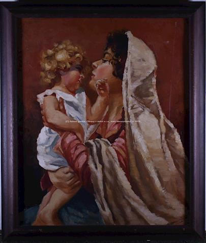 český malíř kolem pol. 20. stol. - Matka s dítětem
