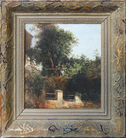 Julius Mařák - Pohled na dům se zahradou