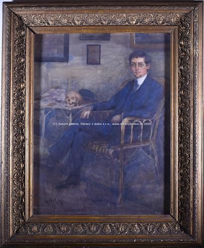 Stanislav Feikl - Portrét s lebkou