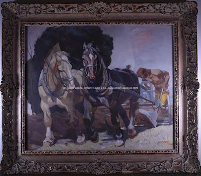 Ludvík Vacátko - Oráč s koňmi