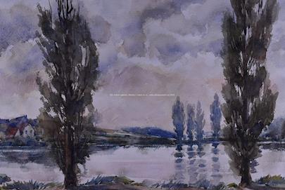 Bergr, Vokálek a další - Soubor 5-ti akvarelů
