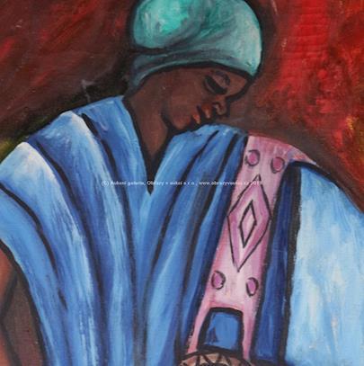 signatura  nečitelná - Africká žena