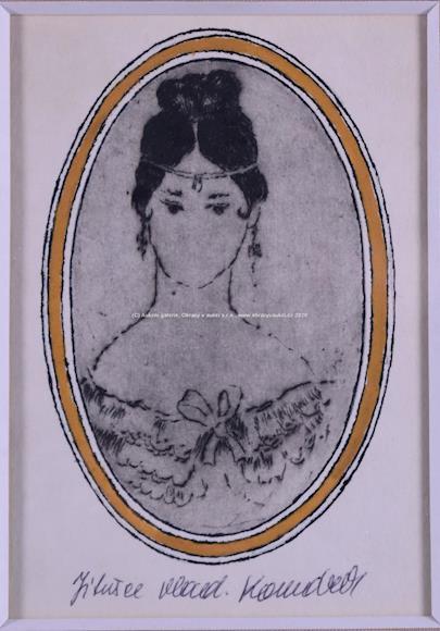 Vladimír Komárek - Portrét mladé ženy