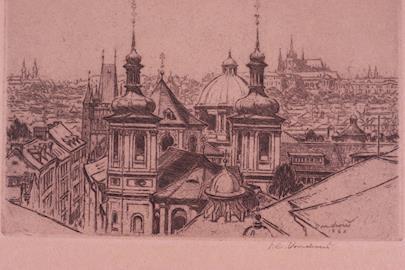 Jan Charles Vondrouš - Soubor 10 leptů - městské motivy