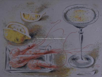 Cyril Bouda - Zátiší s krevetami