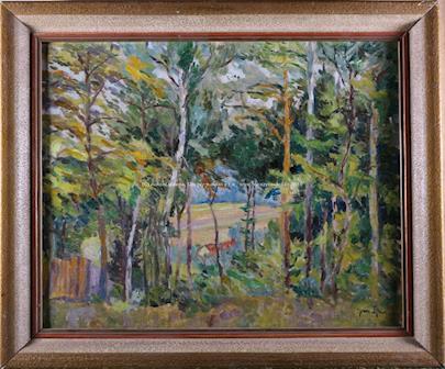 Jan  Čejka - Průhled lesem
