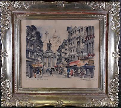 signováno nečitelně - La rue Laffitte ac Sacre-Coeur