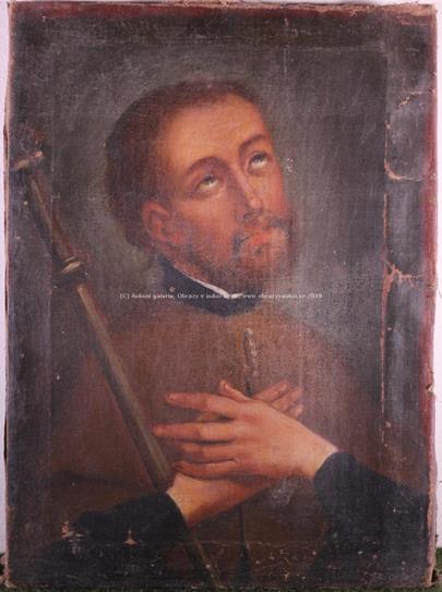 středoevropský malíř 19. stol. - sv. František Xaverský