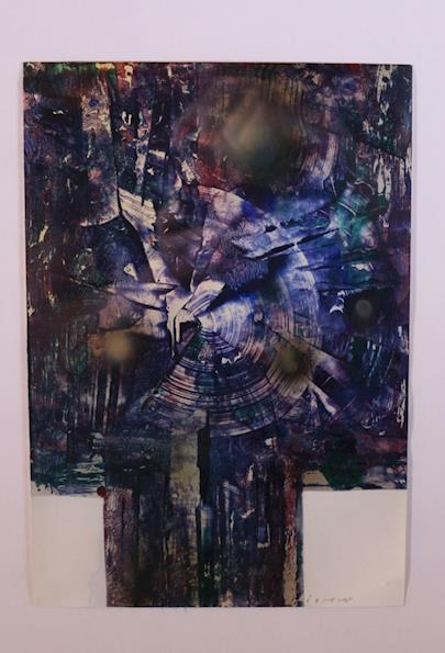 Josef Istler - Modrozelená kompozice