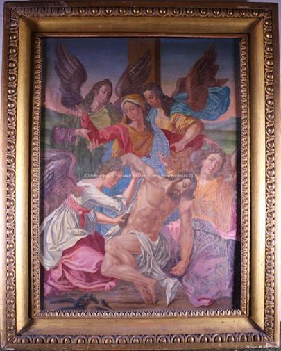 1. pol. 20. stol. - Oplakávání Krista - pieta s anděly