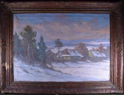 V. Novák - Vesnice v zimním hávu
