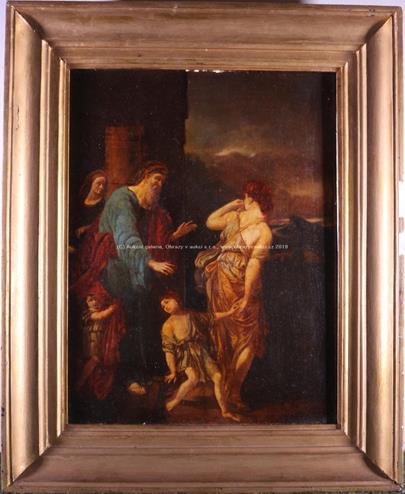 Pravděpodobně středoevropský malíř 18. stol. - Abraham vyhání Hagar (Zapuzení Hagar a Izmaela)